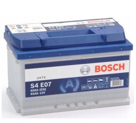 Batería de Coche Bosch 65Ah 650A EN S4E07 borne + dcha