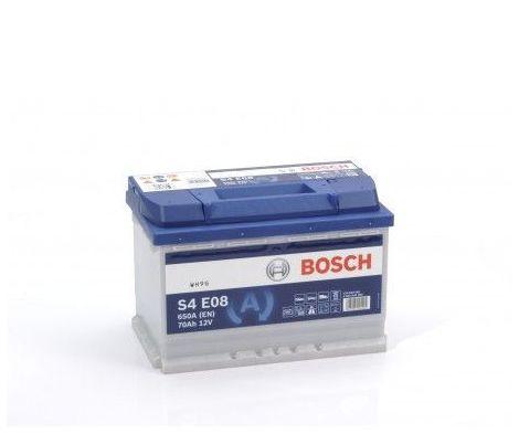 Batería de Coche Bosch 70Ah 650A EN S4E08 borne + dcha