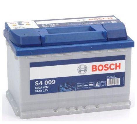 Batería de Coche Bosch 74Ah 680A EN S4009 borne + izq