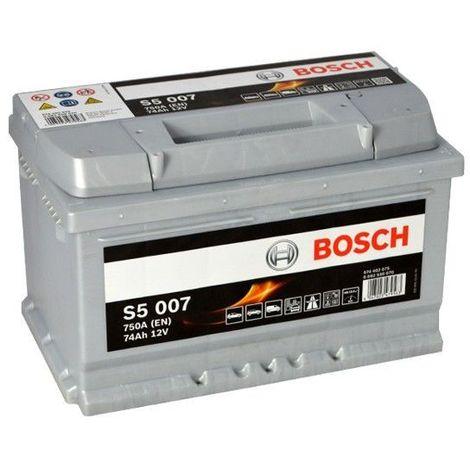 Batería de Coche Bosch 74Ah 750A EN S5007 borne + dcha
