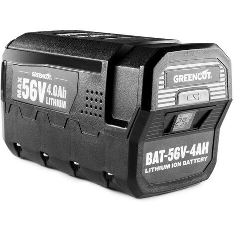 """main image of """"Batería de litio BT564L con capacidad de 4.0Ah, voltaje de 56V, pantalla LCD, compatible con la gama 56V MAX - Greencut"""""""