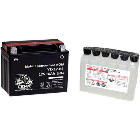 Batería de moto YTX12-BS | AGM Hermética YTX12-4