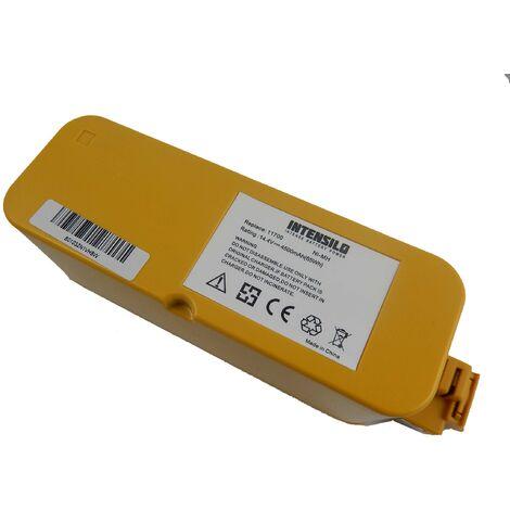 Batería INTENSILO NiMH 4500mAh (14.4V) compatible con iRobot Roomba 400, 4000, 405, 410, 4100, 4105, 4110, 4130, 415 reemplaza 11700, 17373...