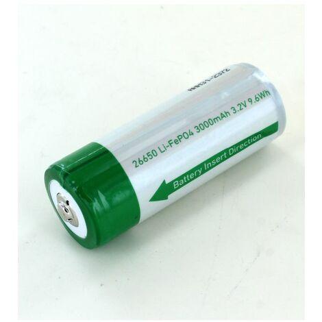 Batería Li-FePo4 26650 3Ah I9R hierro Led Lenser antorcha 3.2V
