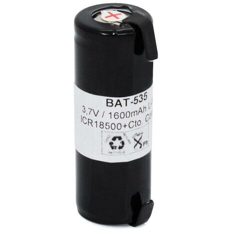 Bateria Litio 3,7V 1600ma IRC18500 + Cto. Control