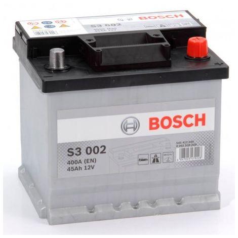 Batería para coche Bosch S3 002 //12V 45Ah 400A EN borne + dcha