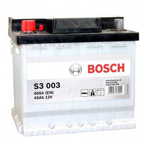 Batería para coche Bosch S3 003 //12V 45Ah 400A EN borne + izq