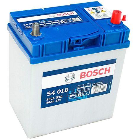 Batería para coche Bosch S4 018 // 12V 40Ah 330A EN borne + dcha bornes finos