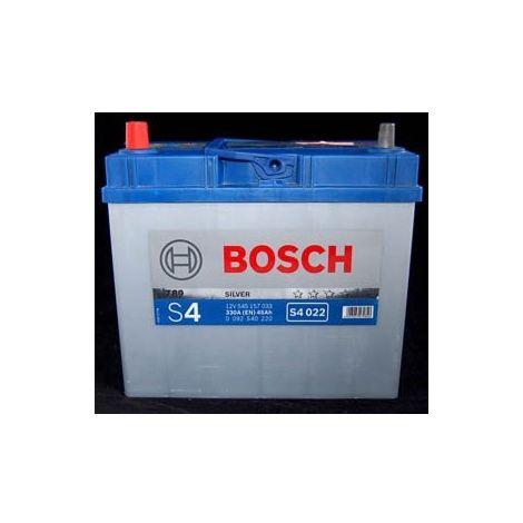Batería para coche Bosch S4 022 // 12V 45Ah 330A EN borne + izq bornes finos