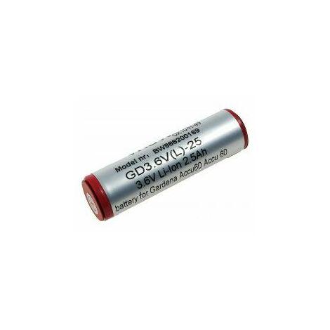 Batería para Gardena recortabordes 8800 / Modelo Accu60 Li-Ion