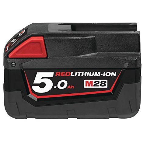 Batería para herramientas inalámbricas de Milwaukee M28B5 28V 5Ah