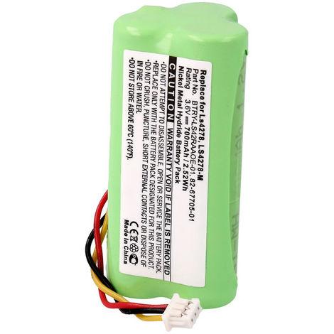 Bateria Para Lector De Barras Motorola 3,6v 700mah LS4278BL, LS42RAAOE-01, 82-67705-01