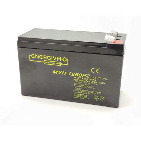 Bateria Plomo 12v 6ah Ups/sais 151x65x95mm 1,75kg Mvh1260f2-esp