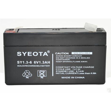 Bateria plomo recargable 6V / 1.3AH alarmas antirobo e incendio - SY6V1.3 -SY6V1.3 NP1.2-6 LC-R061R3
