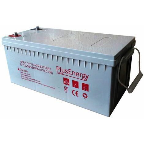 """main image of """"Batería solar AGM 250Ah / 12v PlusEnergy TP12-250"""""""