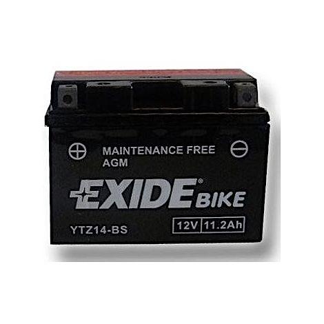 Batería YTZ14-BS para moto EXIDE AGM