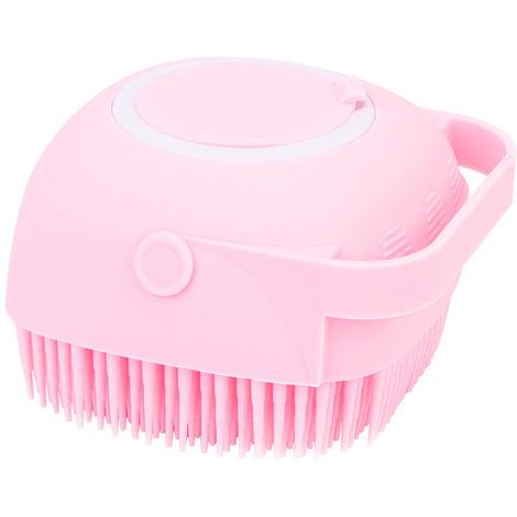 "main image of ""Bath Body Brush with Shampoo Dispenser for Women Soft Silicone Bristles Palm Body Massage Brush"""