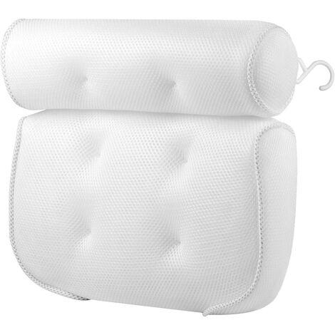 """main image of """"Bath Cushion, Bath Headrest, Breathable 3D Mesh Bathtub SPA Cushion R & Eacute; Mildew Resistant With 6 Suction Cups For Bathtubs"""""""