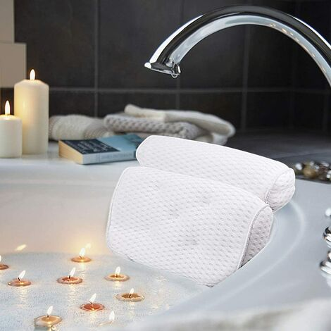 Bath cushions, luxury bath pillows and spa with 4D air mesh technology and 7 cupping