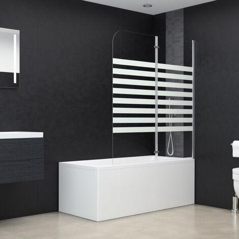 Bath Enclosure 120x140 cm Tempered Glass Stripe