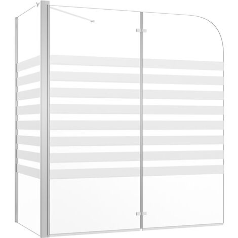 Bath Enclosure 120x68x130 cm Tempered Glass Stripe