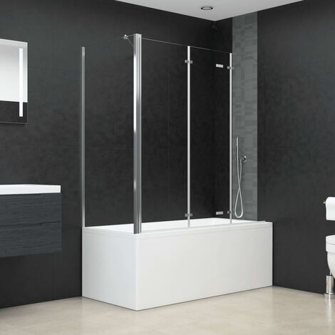 Bath Enclosure 130x130 cm Tempered Glass Transparent