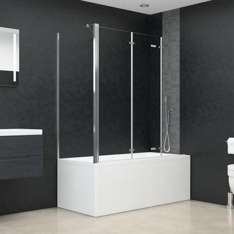 Bath Enclosure 130x130 cm Tempered Glass Transparent