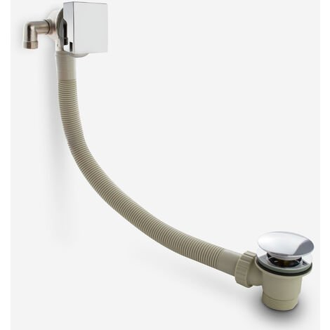 """main image of """"Bath Filler with Sprung Waste & Overflow - Square"""""""