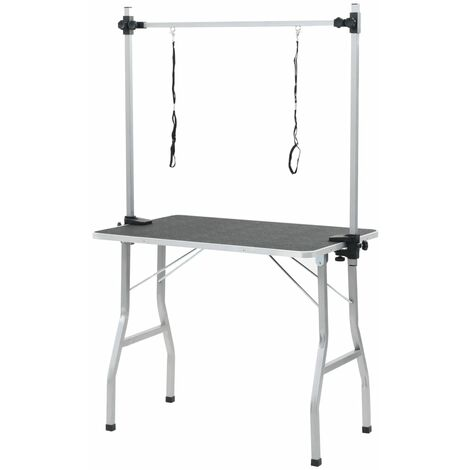 Bath Grooming Table for Dogs Cats Pets Adjustable 2 Loops