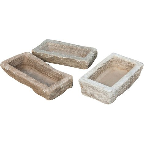 Bath in ancient stone, assorted sizes, 1 pc