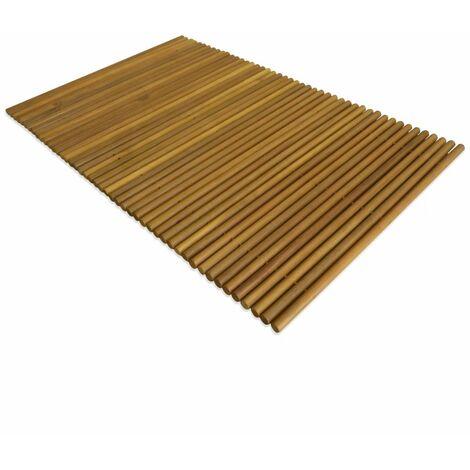 Bath Mat Acacia Wood 80x50 cm