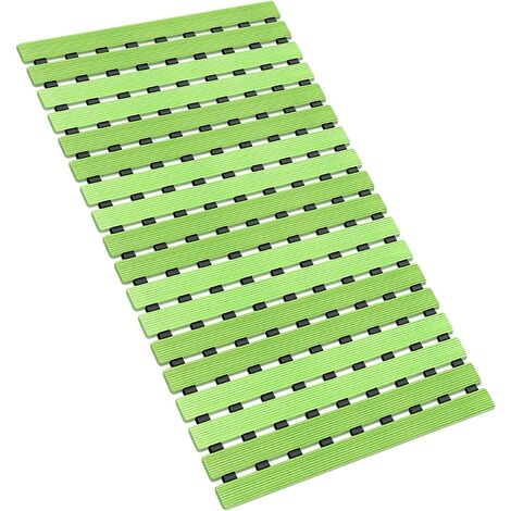 Bath Mat Non-slip Shower Mat Eco-Friendly Fast Draining for Bathroom Kitchen Floor with Strong TPE Suction Cups 40X63CM (Gradient Green)