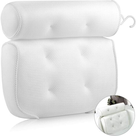 Bath Pillow Bath Cushion with 6 Non-slip Suction Cups for Jacuzzi, Whirlpool (40 X 35 X 8 cm)
