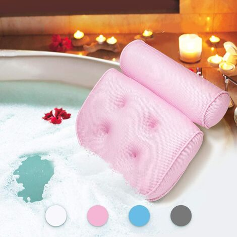 Bath Pillow Bath Pillow Waterproof Head and Neck Foaming Bath Mat with Suction Cup Bath Accessories Gift Rental Products B