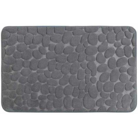 Bath rug Memory Foam Pebbles grey WENKO