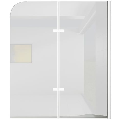 Bath screen Austin 5mm with nano-coating 100 x 140cm shower screen, shower wall, bathtub