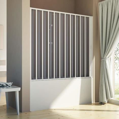 Bath screen for niche in PVC mod. Delfi with side opening