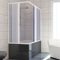 Bath screen Plastic PVC mod. Nadia with central opening