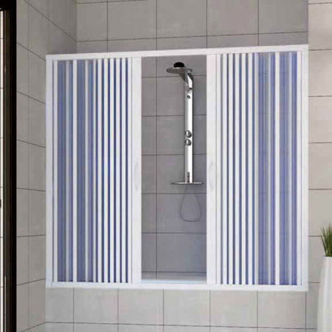 Bath screen Plastic PVC mod. Nina with central opening
