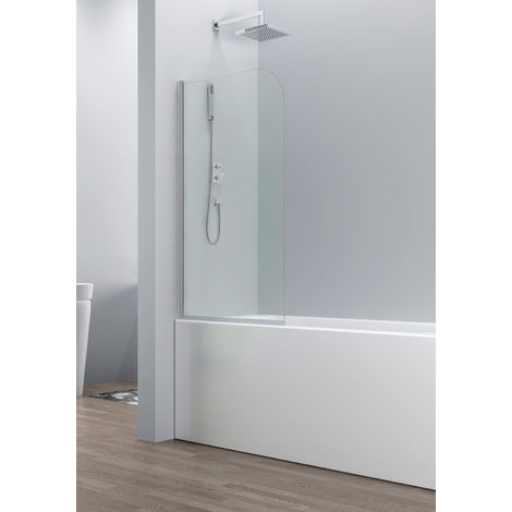 Bath screen Torino 5mm with nano-coating 70 x 140cm shower screen, shower wall, bathtub