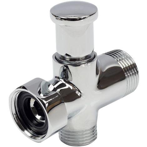 Bath Tap Spout/Shower Hose Switch Chrome Plated Replacement Faucet Part
