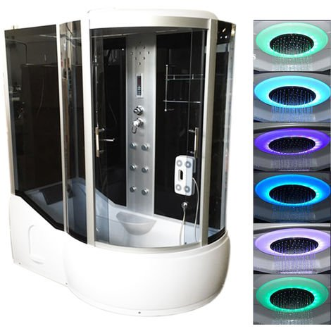 BATH TUB SPA WHIRLPOOL SHOWER 170 x 90 x h 220 cm HOT TUB Paradise CHROMOTHERAPY