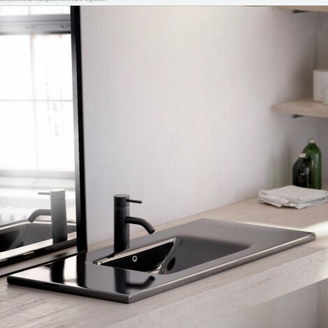 BATHCO 4012NEG MONTEVIDEO Lavabo 80 rectangular Negro