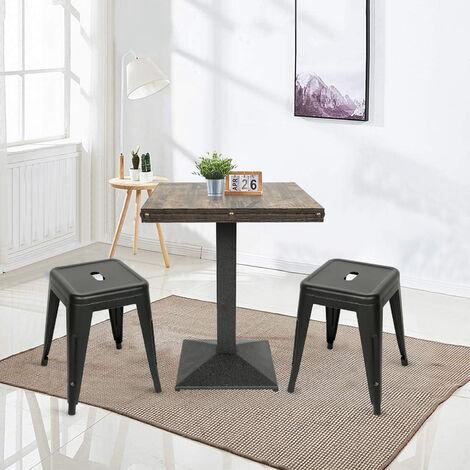 BATHRINS® Lot de 2Tabouret style Tolix avec 1 table