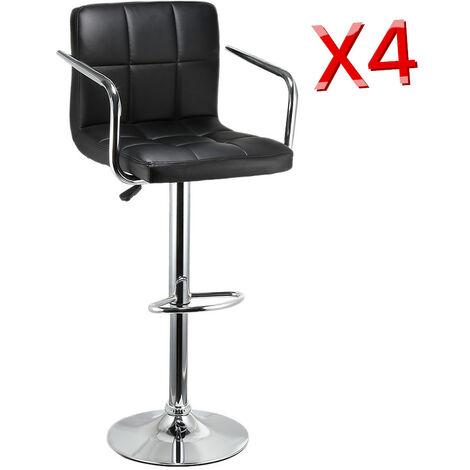 BATHRINS®2er set Barhocker Bistro-Küche aus Kunstleder Sitz: 43,5 x 38 x 8 cm Drehbar 360 ° Höhenverstellbar 93 -114 cm