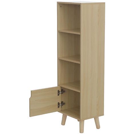 BATHRINS®4 étages, casiers, couleur bois naturel, 40 * 30 * 130cm