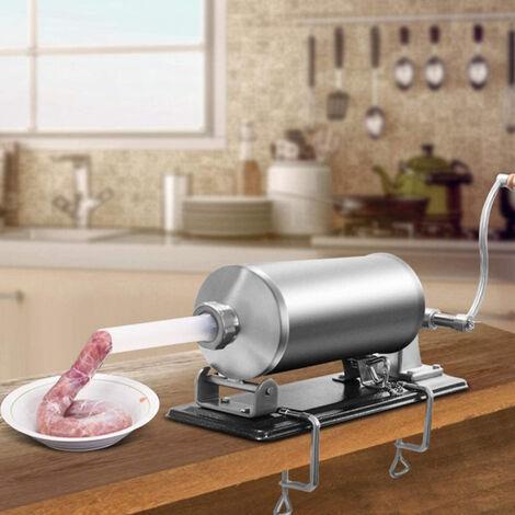 BATHRINS®4,8L Poussoir à Saucisses Viande, Machine à Saucisse en Acier Inoxydable, pour Maison ou Restaurant