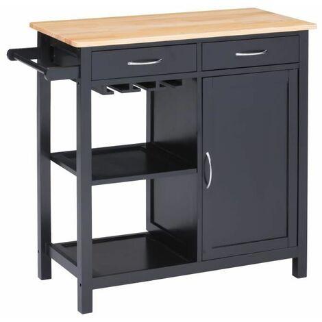 BATHRINS®Aparador, 2 cajones, 2 estantes, estante de una puerta, mueble de baño de madera, dormitorio, sala de estar, comedor, 79 x 82 x 40 cm