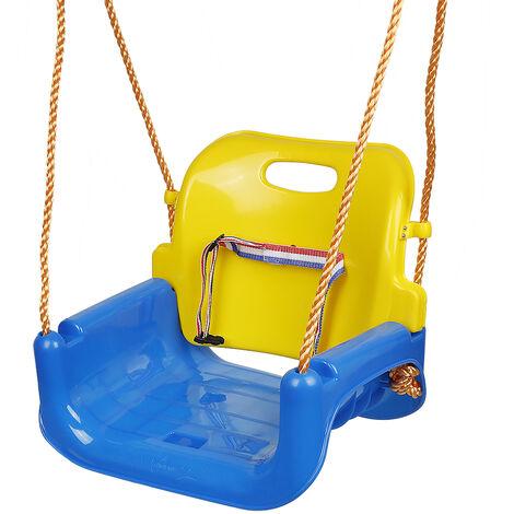 BATHRINS®Balançoire bébé en plastique,Bleu et jaune rouge