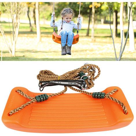 BATHRINS®Balancoire Extérieure Set 4CM épais Siège Avec Réglable Ropes Playground orange